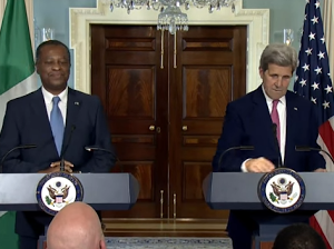 Photos; Geoffery Onyeama & John Kerry Holds Joint Press Conference In US