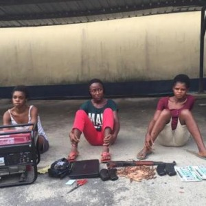Photos: Female Robbery Gang Arrested In Rivers