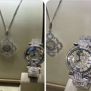 Tonto Dikeh's Husband Gifts Her Diamond Watch And Necklace As Push Present