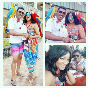 More Photos From Omotola's 20th Wedding Anniversary In Hawai