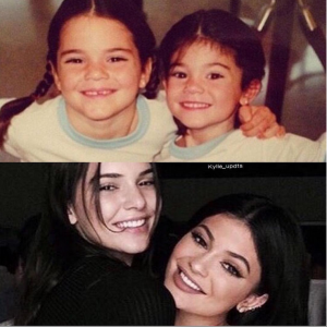 Kylie & Kendall Jenner Recreate Childhood Photo