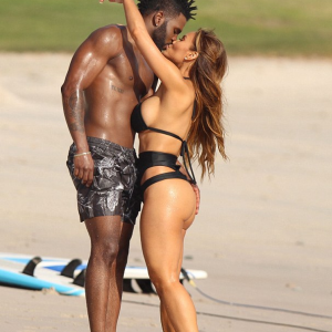 Photos : Jason Derulo And 50cent's Baby Mama,Daphene Love Up At Beach In Mexico