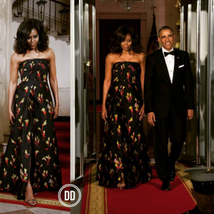 Photos : Michelle Obama And Barak Obama Step Out In Style For White House State Dinner