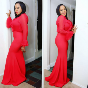 Photos : Toyin Aimakhu Stuns In Red