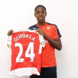 New Signing! Arsenal FC Ladies Unveils Nigeria Super Falcons Player, Asisat Oshoala (Photos)