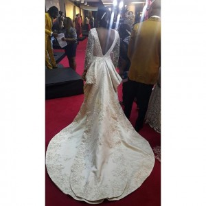 Fans Slam Ini Edo On IG For Wearing Wedding Gown To AMVCA