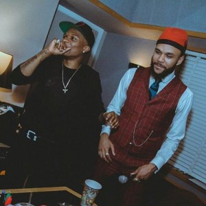 Wizkid and Jidenna Pictured Recording New Music In The Studio