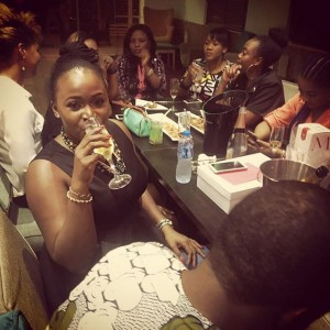 Wizkid, Tania Omotayo, Others At Annie Idibia's Manager's 30th Birthday Dinner   Photos