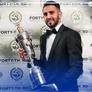 Riyad Mahrez Becomes The First African To Win PFA Player Of The Year (Photo)