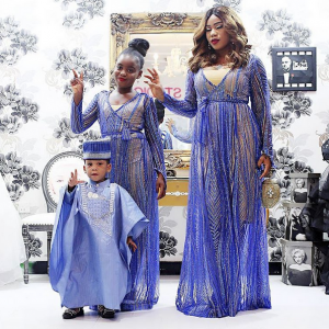 Toyin Lawani And Kids Stepout In Lovely Matching Outfits
