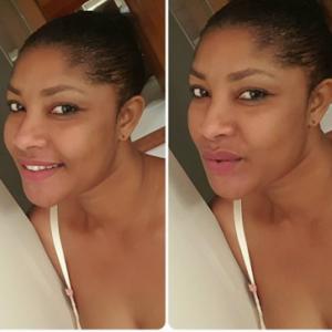 Photo: Angela Okorie Goes Makeup-Free