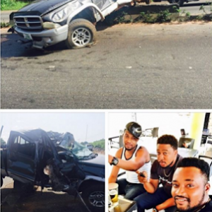 PHOTOS: Actor Nosa Rex And His Friends Survives Ghastly Car Accident