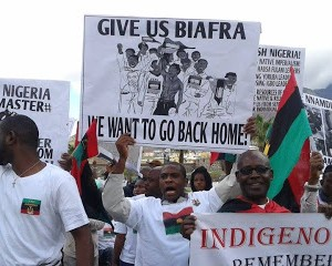 Pro Biafra Supporters Take To The Streets In South Africa Over Nnamdi Kanu's Detention. (Photos)