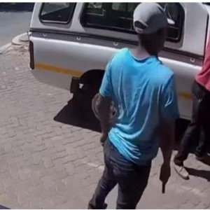 Gunmen Caught On Camera Robbing A Man Shortly After He Withdrew Money From A Bank In South Africa