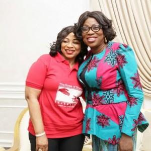 First Lady of Lagos State, Bolanle Ambode Receives Folorunsho Alakija At Lagos House (Photos)