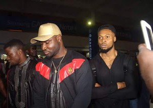 Photos Of Olamide, Flavour And Harrysong In Ghana