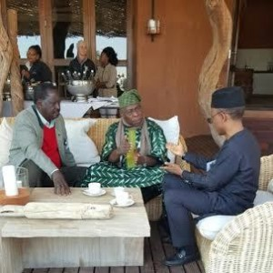 Photos: Governor El-Rufai And Olusegun Obasanjo Pictured In South Africa