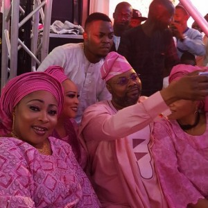 Bukky Wright, Moji Olaiya, Olamide Attend Owanbe In Pink Traditional Attires (Photos)