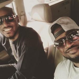 Peter Okoye And 2Baba Share A Selfie As They Arrive Abuja