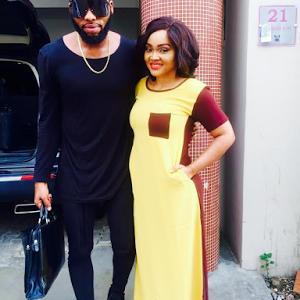 Photos; Mercy Aigbe On Set With Her Stylist Swanky Jerry