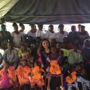 Iara Oshiomhole Pictured With Refugees As She Celebrates Her Birthday