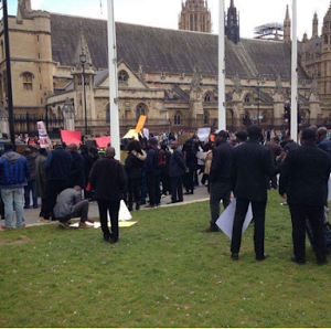 Nigerians In The UK Stage Protest Over Fulani Herdsmen Attacks (Photos)