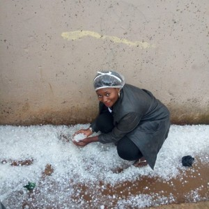There Was An Ice-filled Rainfall In Jos Last Week –  See Photos & Video