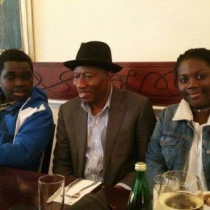 Fans Mob GEJ After Hanging Out With His Kids In London
