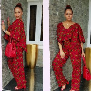 Adaeze Yobo lovely in an Ankara jumpsuit