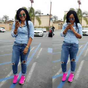 Darling Actress Mercy Aigbe rocking the streets of US (Photos)