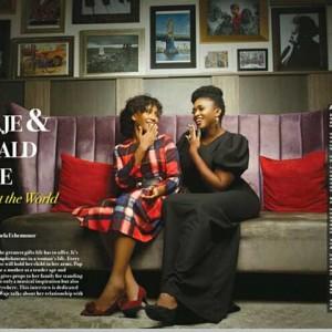 Singer Waje And Daughter Emerald Stun On Vanguard Allure   Photos