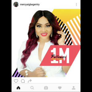 Mercy Aigbe Hits One Million Instagram Followers