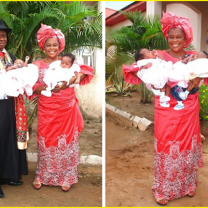 Photos: Nigerian Couple Gives Birth To Twins After 25yrs Of Marriage