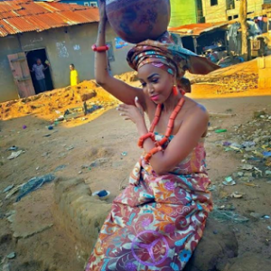 Huddah Monroe Rocks African traditional Attire In New Photos