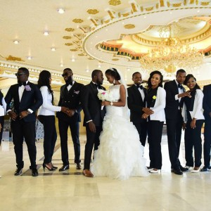 Check Out This Wedding Photos Of Bridesmaids In Suit