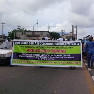 PHOTOS: Traders Protest Against NLC In Oyo State