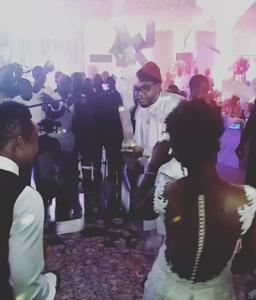 Photos: Emoney Uses A Money Spraying Machine During Onazi Ogenyi's Wedding