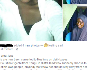 Photos: Young Igbo Woman Reportedly Converts To Islam