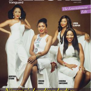 Omoni Oboli,Linda Ejiofor,Adesua Etomi & Chioma Onyenwe Cover Vanguard Allure