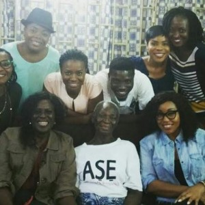 Nigerian Actors Visit Veteran Nollywood Actress, Bukky Ajayi At Her Home