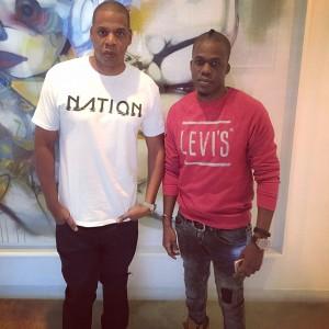 Photo: Rapper Iceberg Slim Pose With Jay Z