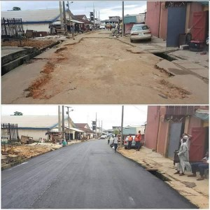 Photos: Rehabilitated Roads By Gov. Wike In Obaziolu Mile 3, Rivers State