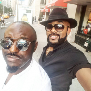 Banky W And Jim Iyke Hang Out In New York (Photos)