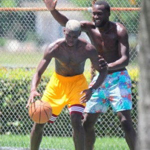 Footballers Paul Pogba and Romelu Lukaku Spotted In Miami Playing Basketball Together (Photos)
