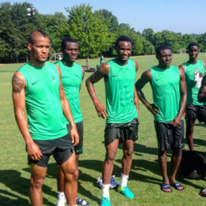 Photos Of Mikel Obi, Others Training Ahead Of Rio 2016