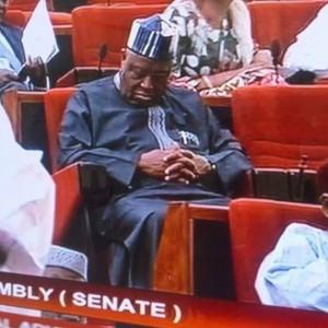 PHOTO: Benue Senator, Barnabas Gemade, Pictured Sleeping On Duty