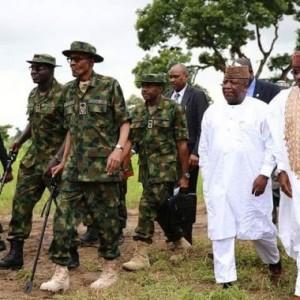 Photos: Pres. Buhari Wears A Military Uniform In Zamfara State