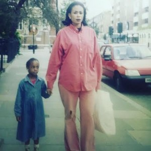 Throwback Photo Of Nkiru Anumudu And Daughter, Ozinna In 1996