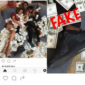 Patoranking Busted By US Site For Posing With Fake Money And Wearing Fake Yeezys