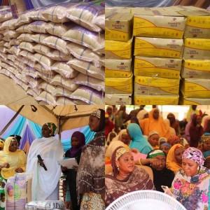 Photos: Aisha Buhari Donates Food Items To Sokoto Residents